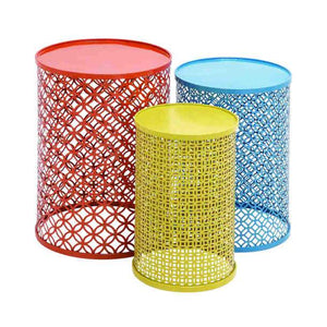 Metal Cylinder Table - Three Styles
