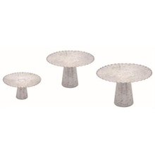 Metal Galvanized Decorative Risers - Set of 3