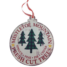 Metal Holiday Design Ornament
