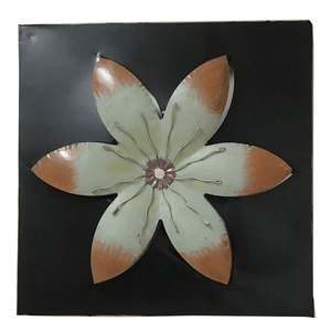 Metal Layered Flower Wall Art- 2 Colors