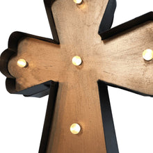 Metal Wall Cross with Shining Lights