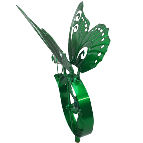 Metallic Butterfly Spinner Garden Stake - 3 Colors