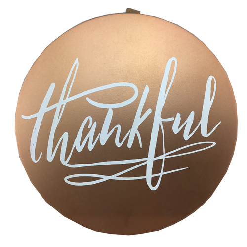 Metallic Gratitude Wall Decor