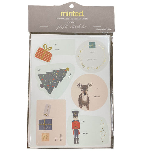 Minted Gift Stickers- 10 Sheets