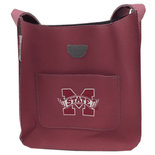 Mississippi State Maroon Vinyl Purse With Pocket