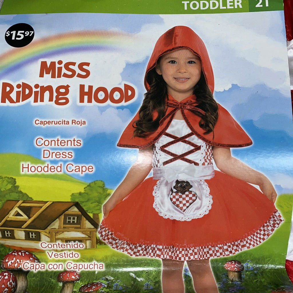 Toddler Miss Riding Hood Costume
