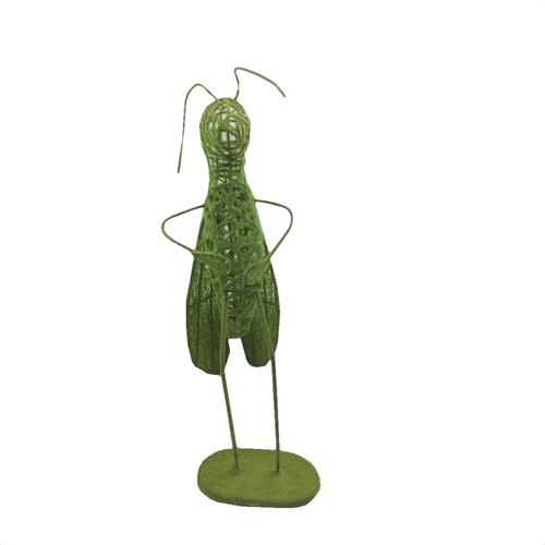Moss Green Wired Metal Grasshoppers - 2 Styles