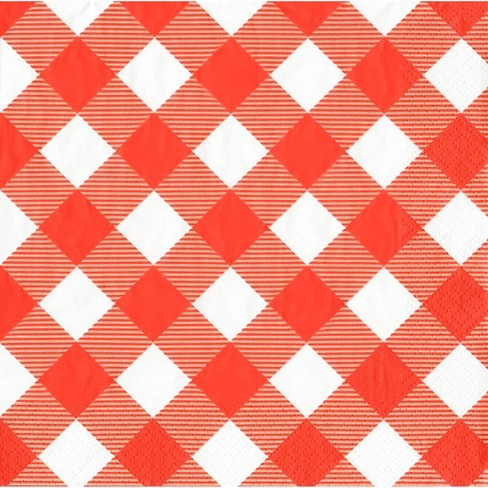 Gingham Sun Squad Lunch Napkins