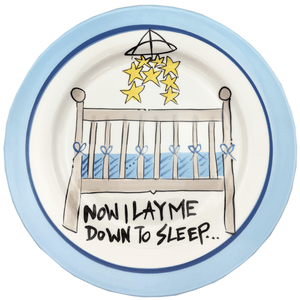 """Now I Lay Me Down To Sleep"" Ceramic Crib Plate - 2 Styles Magnolia Lane"