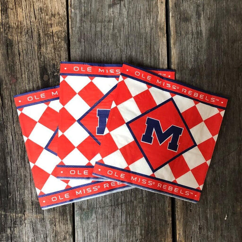 Ole Miss Lunch Napkin 25 Pack
