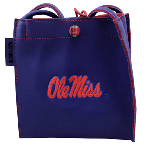 Ole Miss Navy Blue Vinyl Purse
