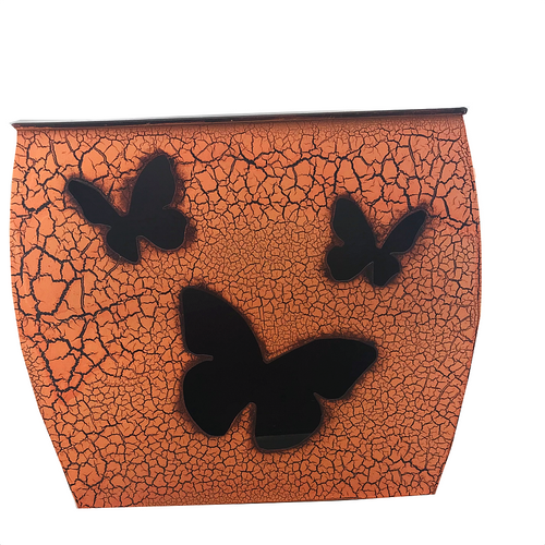Orange Metal Butterfly Planter - Five Sizes