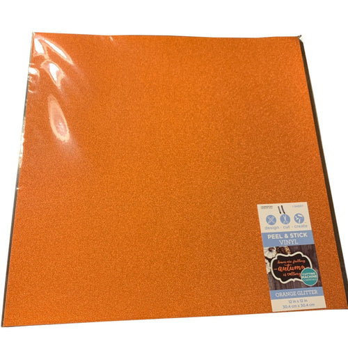 Peel And Stick Glitter Orange Vinyl