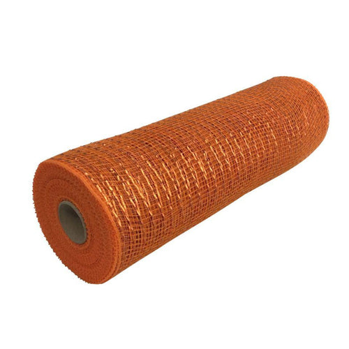 10 Inch By 10 Yard Orange Metallic Mesh