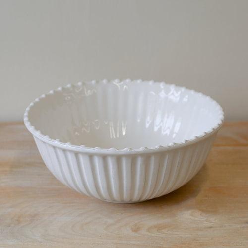 Orleans Serving Bowl Antique White 13 Inch