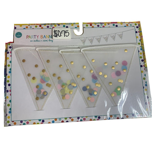 Polka Dot Confetti Party Banner