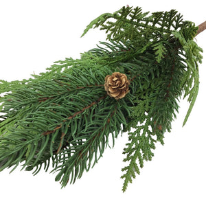 Pine Cedar Spray with Pinecones