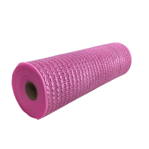 10 Inch By 10 Yard Pink Metallic Mesh
