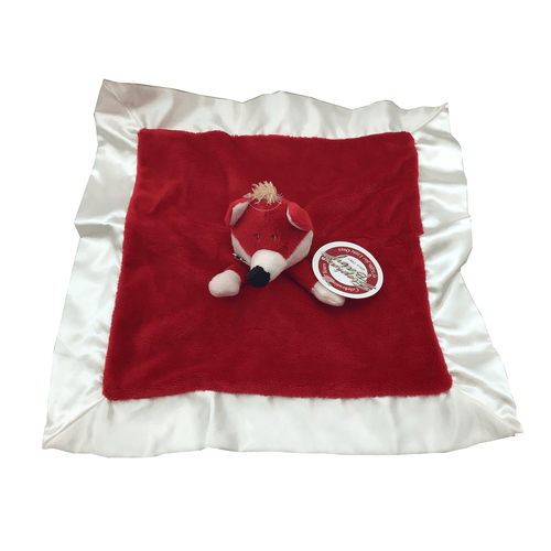 Red Fox and White Velvet Baby Blanket