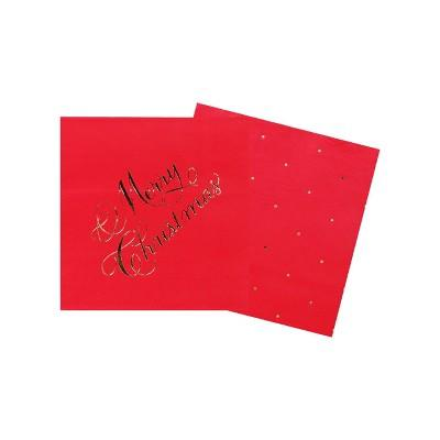 Red Paper Cocktail Napkins, 40ct - sugar paper