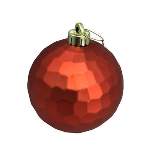 Honeycomb Metallic Red Ball Ornament
