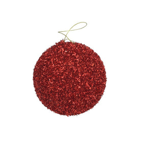 Red Glitter Ball Ornament