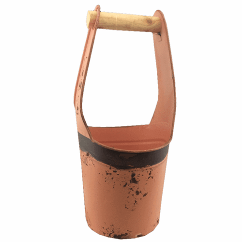 Rustic Metal Well Bucket - Set of 3