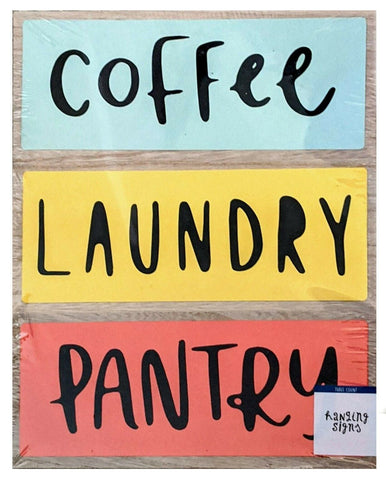 Coffee Laundy Pantry Hanging Signs