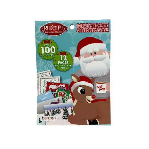 Rudolph & Santa Mini Sticker Activity Book