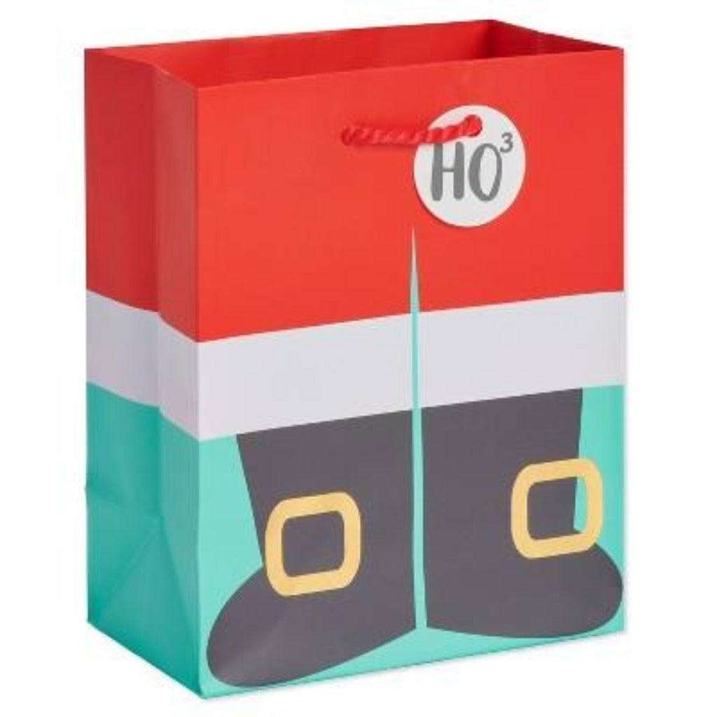 Santa Boots HO3 Small Gift Bag