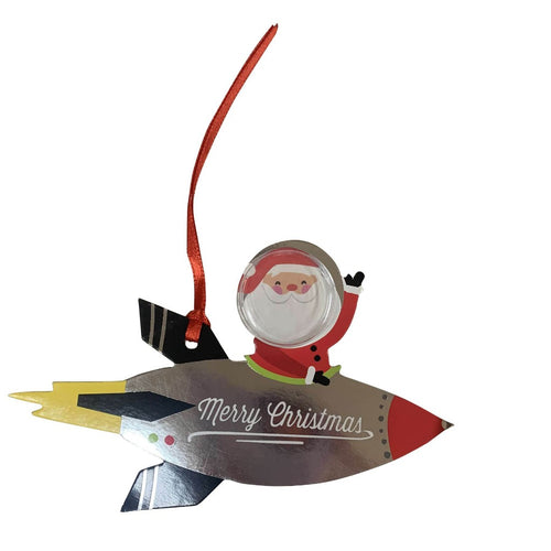 Wondershop 6 Count Santa Rocket Gift Tags