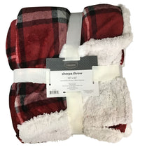 Patterned Living Comfort Sherpa Throw