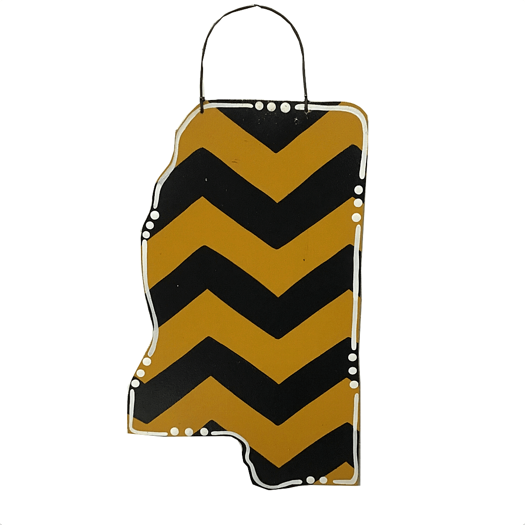 Small Southern Miss Cutout with Chevron Pattern