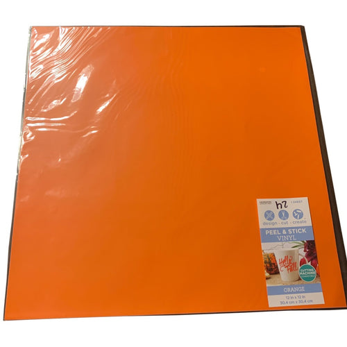 Orange Solid Vinyl Sheet