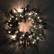 "Sterling Tree Company 24"" Evergreen Lighted Wreath"