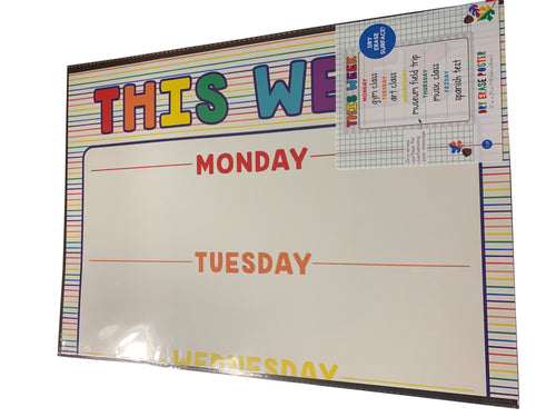 This Week Dry Erase Poster