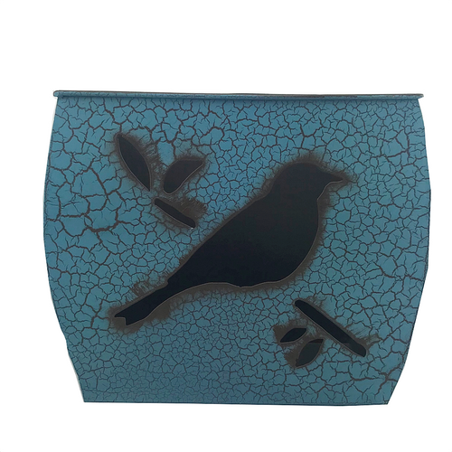 Turquoise Metal Bird Planter - Five Sizes