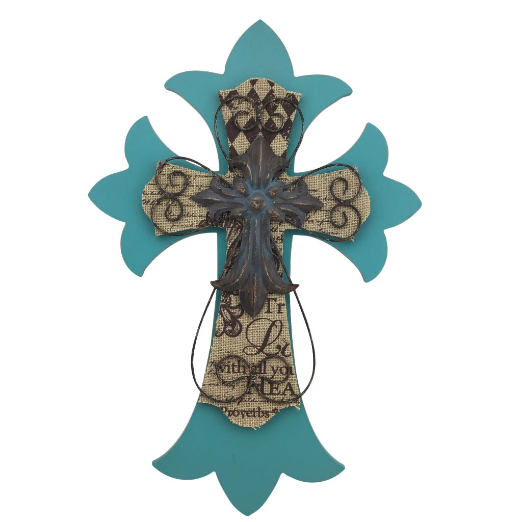 Turquoise Layered Cross