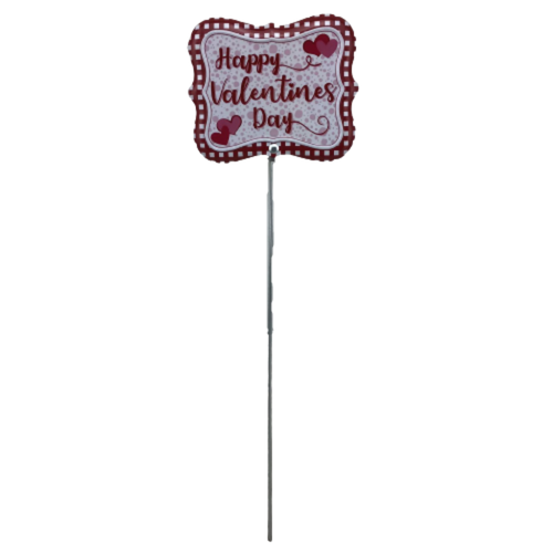 13 Inch Valentine Tin Pick- 2 Assorted