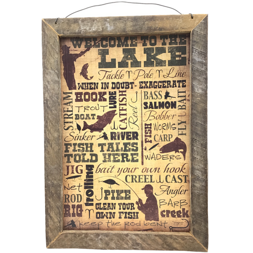 Welcome to the Lake Framed Wall Art