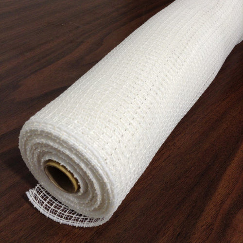 White 21 Inch Fabric Desinger Netting