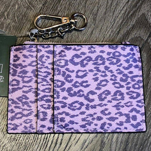 Wild Fable Purple Cheetah Zippered Mini Wallet
