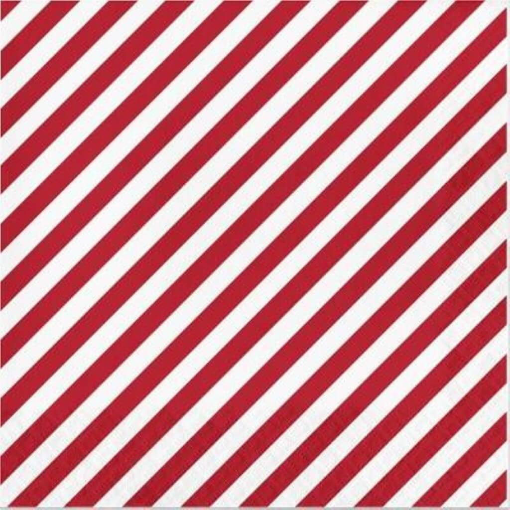 Wondershop Lunch Napkins- Red/White Stipes