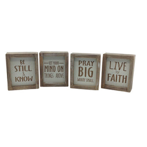 Wood Box Table Wall Sign Four Styles