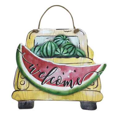 Wood Watermelon Truck Welcome Sign