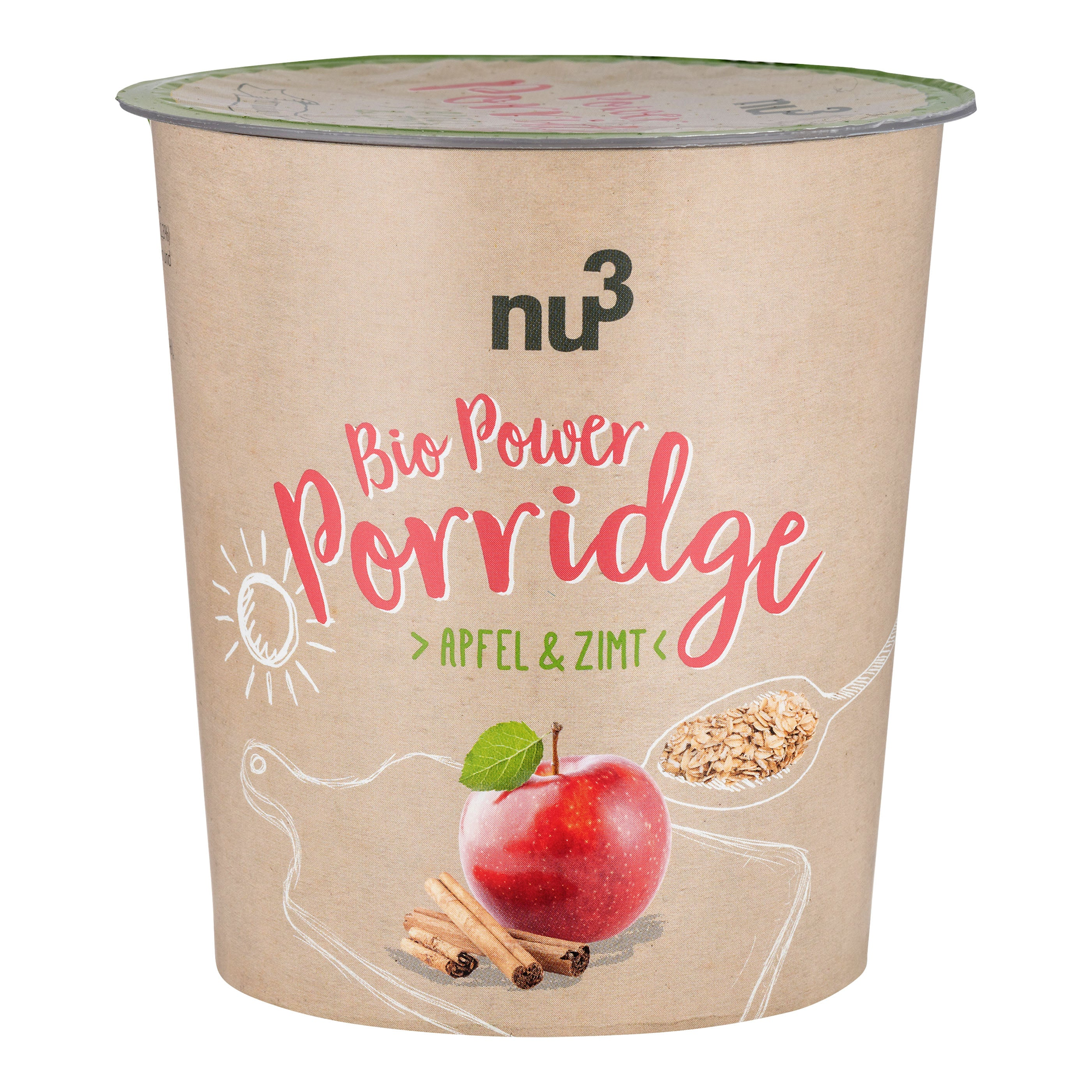 nu3 Bio Power Porridge Apfel-Zimt / 45 g