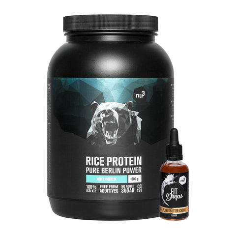 nu3 Reisprotein + Fit Drops