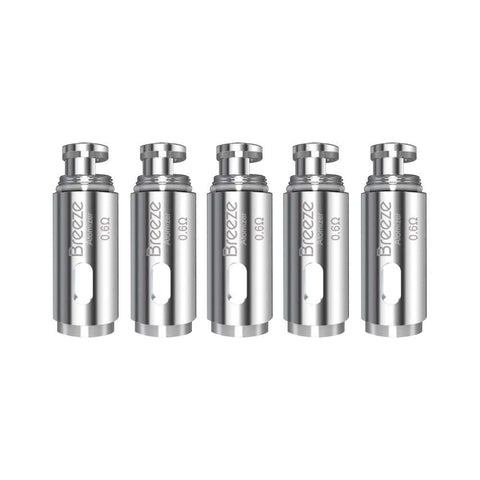 Aspire Breeze Replacement Coil - 5 Pack  0.6 & 1.0 ohm - UK VAPE WORLD