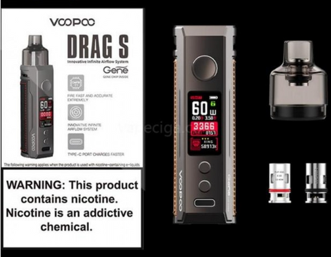 Voopoo Drag S Kit £27.99 - UK VAPE WORLD
