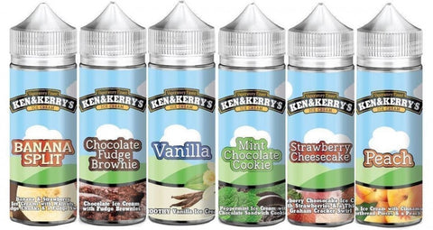 Ken & Kerrys e liquid 100ml Ice Cream Series ALL FLavours 0mg 3mg UK - UK VAPE WORLD